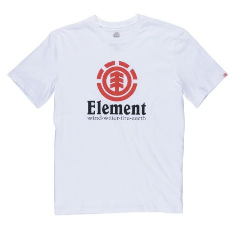 ELEMENT MENS T SHIRT.VERTICAL WHITE COTTON SHORT SLEEVED SKATER TOP TEE 8S A6 3